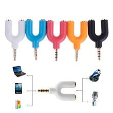 Сплиттер для наушников u-образный 3,5 мм стерео аудио разъем для наушников 2-полосный u-разветвитель адаптер конвертер