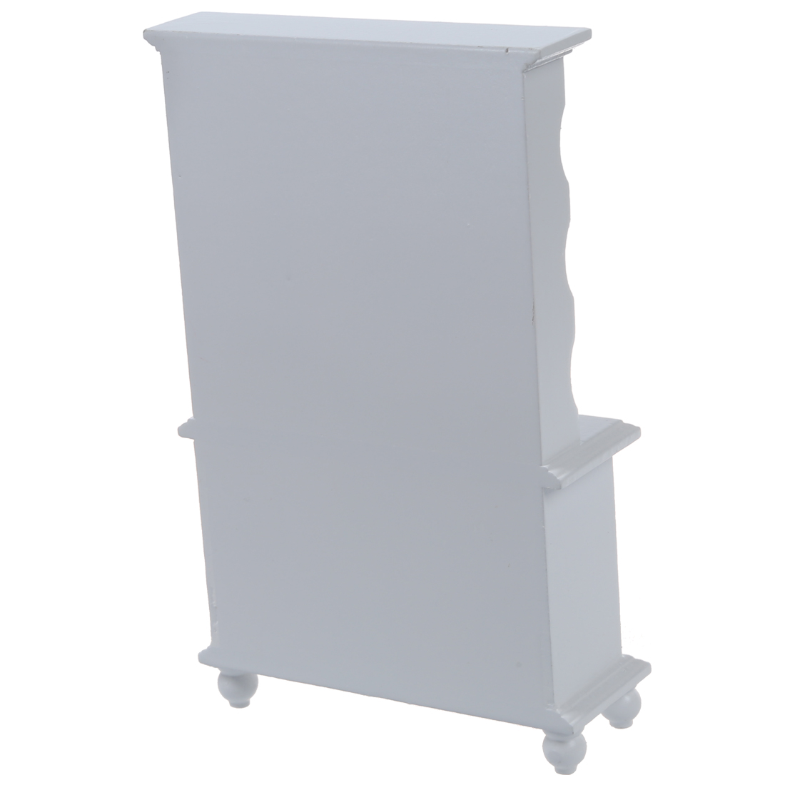 New 1/12 Dollhouse Miniature Furniture Multifunction Wood Cabinet Bookcase White