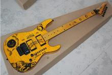 2017 Stock yellow ESP ouija KH electric guitar ESP kirk hammett oujia moon electric guitar free Shipping ESP guitar(China)