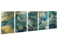 abstract metal wall art sculpture multi panel modern home decoration 395