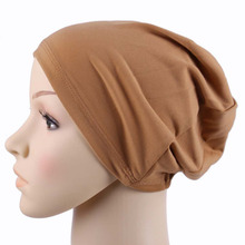 2016 fashion muslim scarf women Free Shipping Bonnet Turban Islamic Hats Hijab Headwear Caps muslim brand scarf women winter