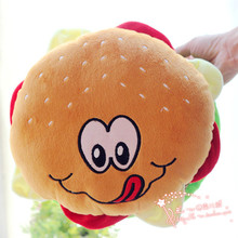 small cute plush hamburger toy new hamburger pillow gift about 30cm 478