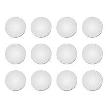 12 шт. новые наклейки для отделки Практичный чехол для салона автомобиля Антикоррозийная крышка дверного замка винтовая защита, белый