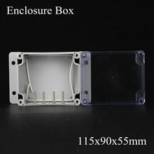 115*90*55 мм IP66 ABS Водонепроницаемый электронный корпус проект коробка Распределения переключатель junction outlet case Clear крышка