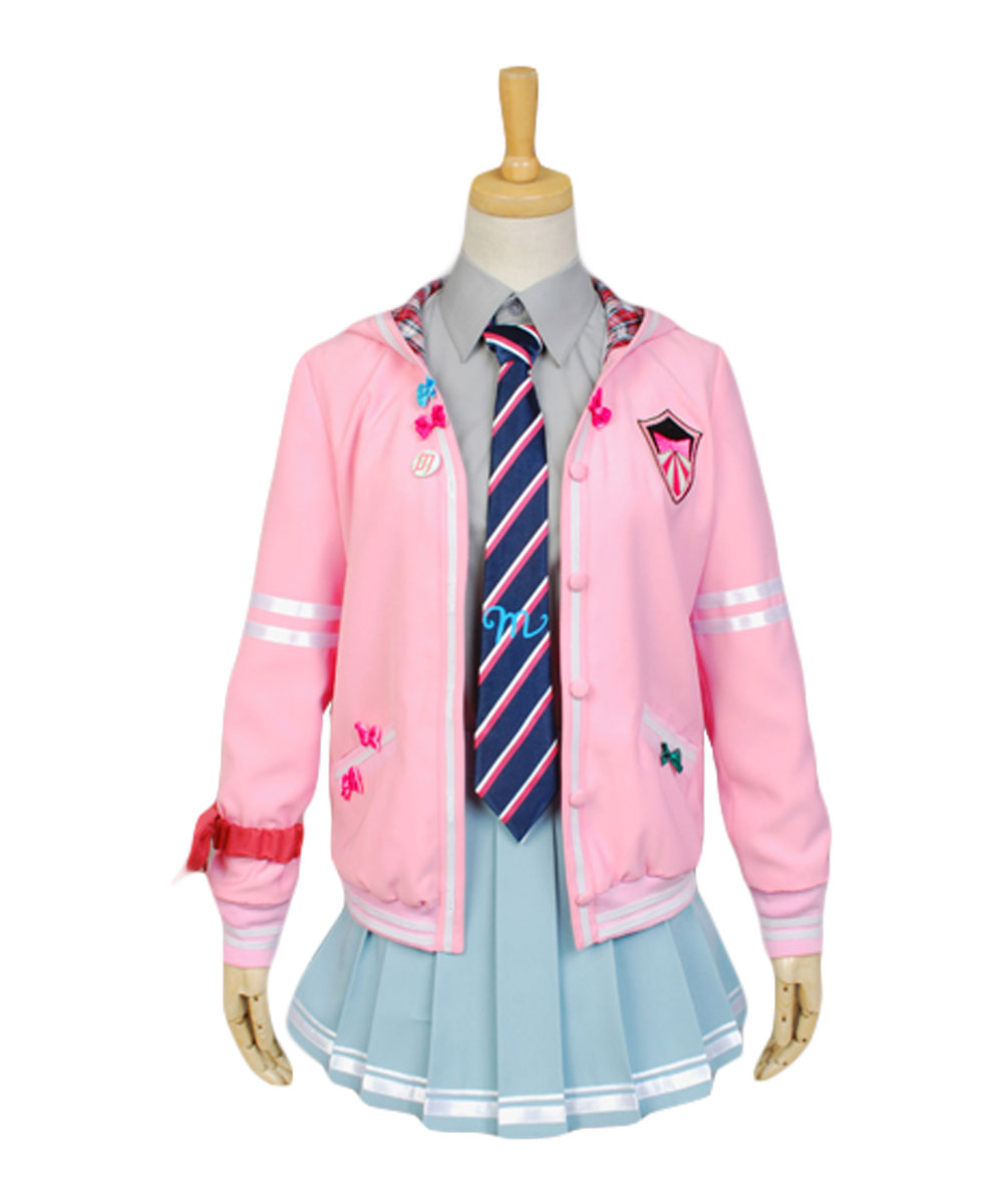 Vocaloid Miku Project DIVA-f Uniform Cosplay Costume Halloween Carnival Costume full set
