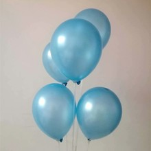 100pcs/lot 10inch latex baloons 1.5g pearl light blue ballons wedding inflatable air globos decoration anniversaire helium