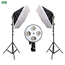 Diffuser Light 50*70cm Continuous Lighting Softbox for 4-in-1 Socket E27 Lamp Holder with 2Pcs 2M light Stand Photo Studio Kit(China)