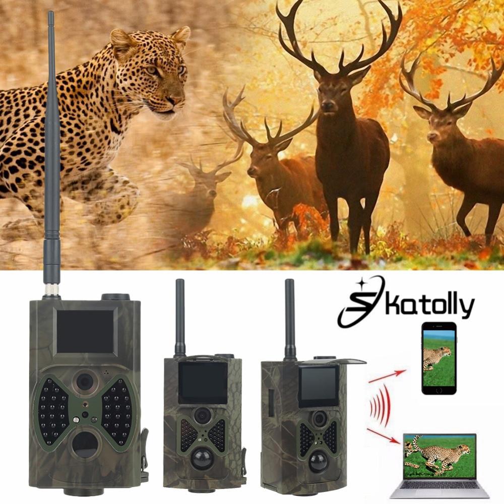 Skatolly Marca 1 * HC300M HD Caça Câmera Trilha Scouting Infravermelha Vídeo GPRS GSM 12MP Dropshipping Caça Cam + Free grátis!