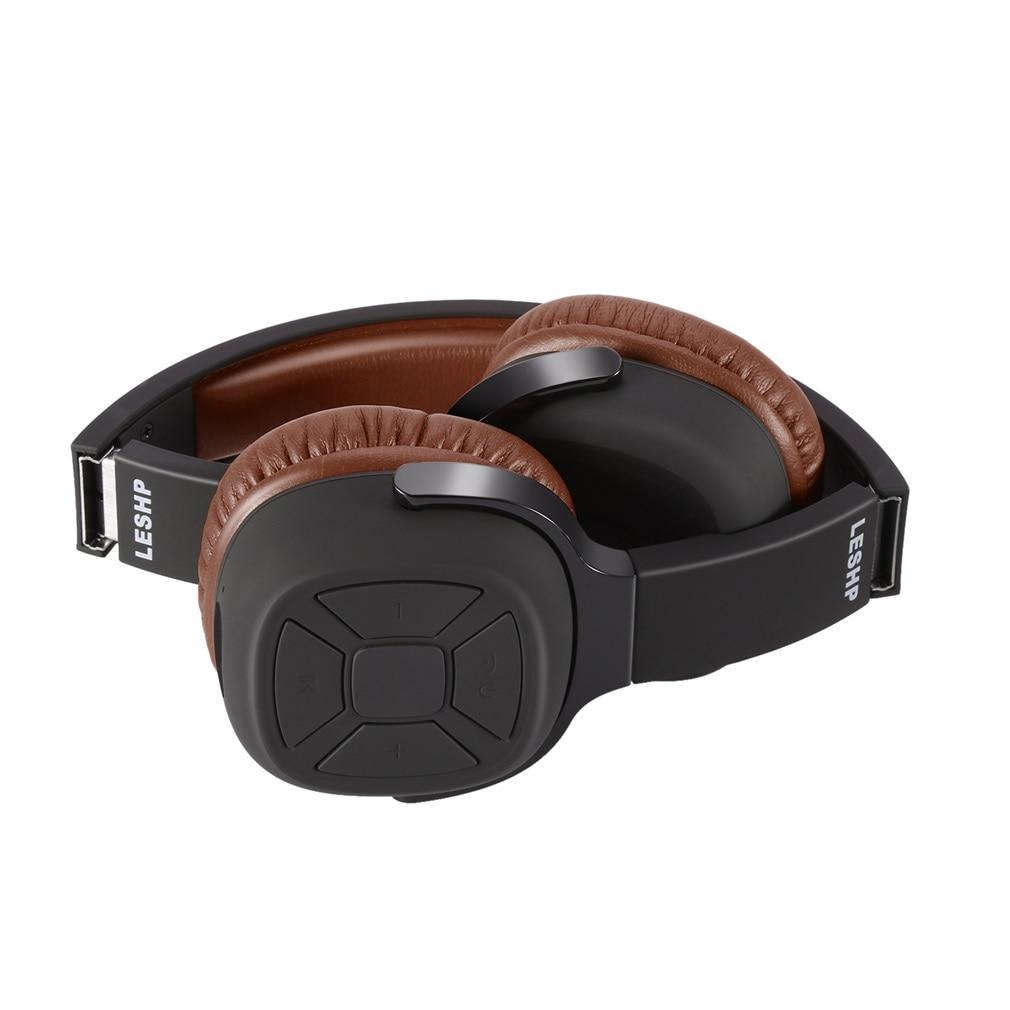 Casque Bluetooth casque sans fil filaire sur l'oreille pliable Bluetooth 4.0 casque stéréo avec support casque - 5