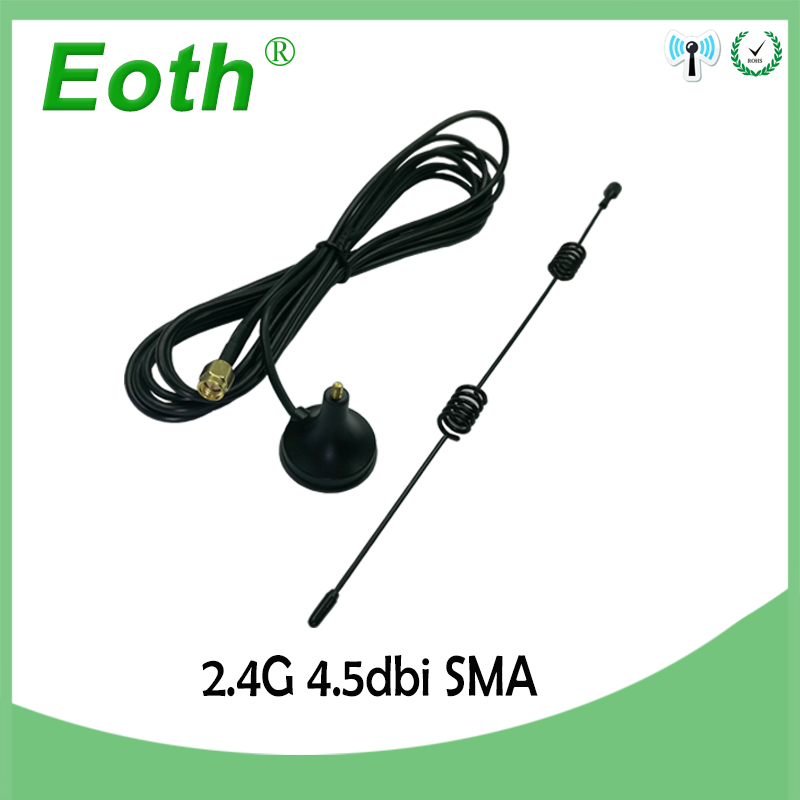 10PCS Wifi Antenna 2.4G 4.5dbi hing gain Sucker antenna 3 meters extension cable SMA MALE connector NEW Wholesale wi-fi router