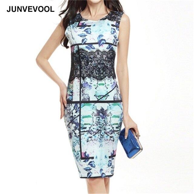 cb2e387727 Koronkowe Sukienki Druku Kobiety Floral Dress Eleganckie Biuro Archiwalne  Ubrać Do Pracy Suknie Odzież Kobiet Summer