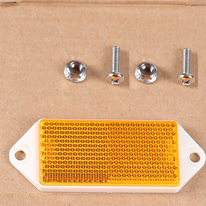 Image 4 - 6 pcs  AOHEWE amber  rectangular reflector  with screw ECE Approval reflect strip for trailer truck lorry bus RV caravan bike