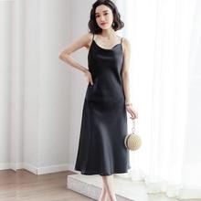 Fashion Women Solid Spaghetti Straps Backless Sleeveless Sexy Dresses Bottom Length Ladies Casual Dress Ne'w Summer Party Dress