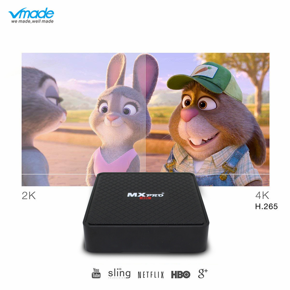 Vmade V96S Mini TV Box Android 7.1 Allwinner H3 Quad Core H.265 HD 1080p 1GB + 8GB Support WIFI Mini Set Top Box TV Media Player-in Set-top Boxes from Consumer Electronics