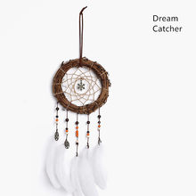 rattan dream catchers nordic wall home boys girls bed room dreamcatcher(China)