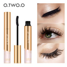 O.TWO.O 3D Mascara Lengthening Black Lash Eyelash Extension Eye Lashes Brush Beauty Makeup Long-wearing Gold Color Mascara(China)