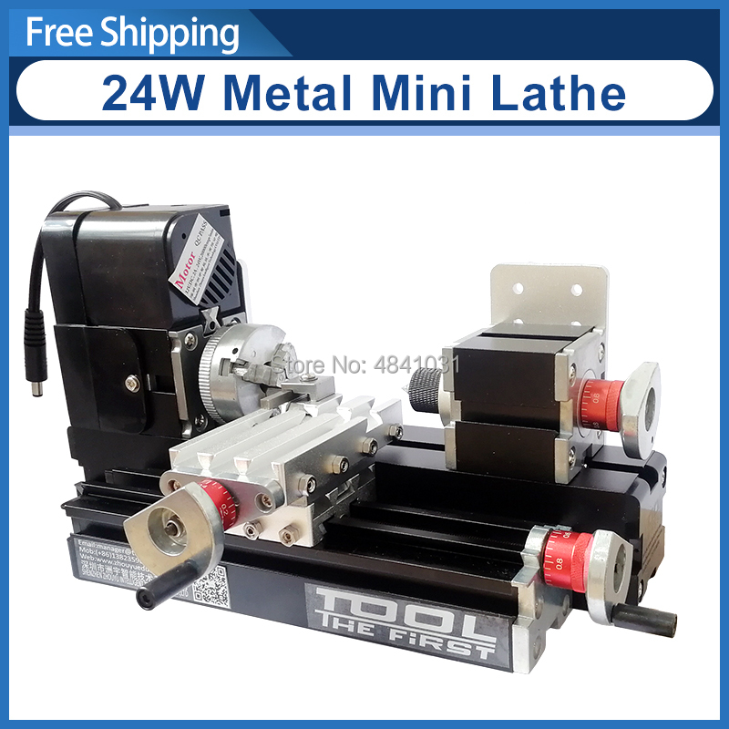 Z20002M 24W Metal Mini Lathe 20000rpm didactical metal lathe machine mini lathe for students DIY Works