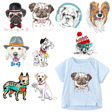Cartoon Dog Patch Heat Transfer Vinyl Iron on Animals Patches for Clothing DIY T-shirt Badges Stickers Applique on Clothes zotoone fashion puppy iron on transfer patch for clothing cartoon animals decors on t shirt applications clothes diy accessories