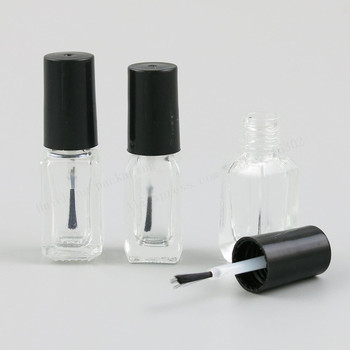 300 x 3ML 4ML Refillable Empty Square Glass Nail Polish Bottle  3cc 4cc Small Brush Nail Art Container