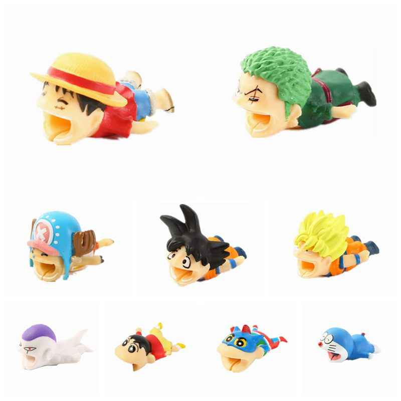 Cable Bites Cartoon Anime Animals One Piece Dragon Ball Cable Bite Protector For Iphone Cable Winder Phone Cute Cable Bites Toys