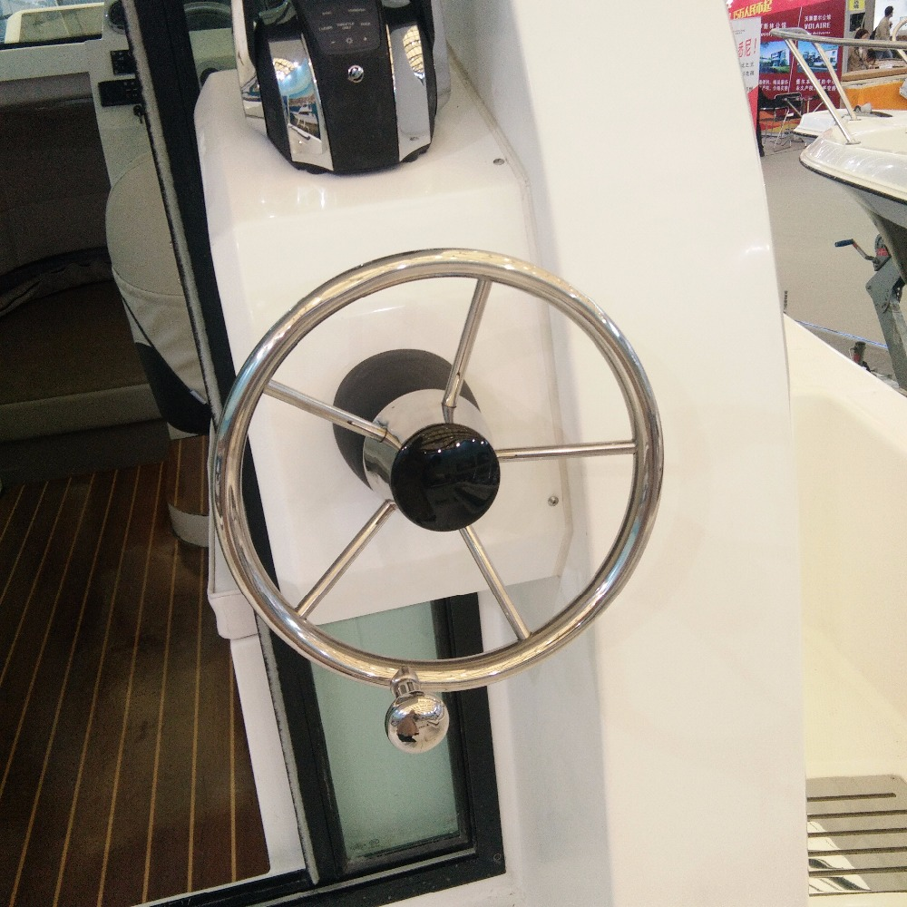 Boat Steering Wheel Stainless Steel 5 Spoke 25 Degree 11'' For Marine Yacht