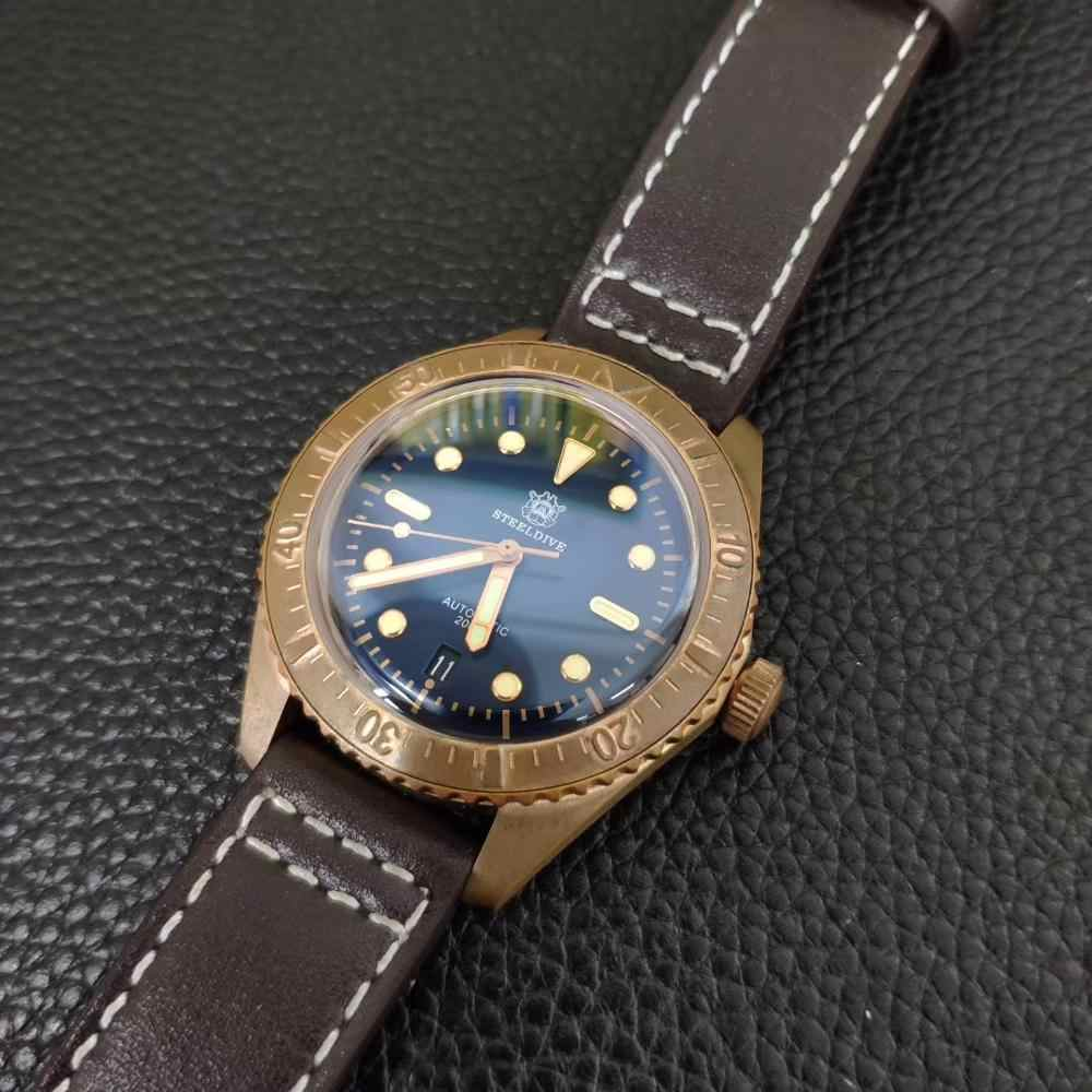 Steeldive 20ATM diving watch super luminous watch sapphire glass stainless steel automatic bronze diving watch for men
