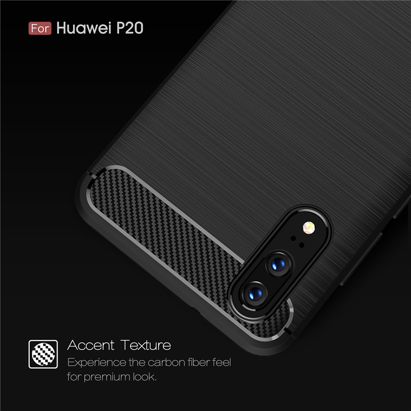 WolfRule Case Huawei P20 Cover Shockproof TPU Brushed Back Case For Huawei P20 Case Huawei P 20  Phone Shell Capa Funda 5.7