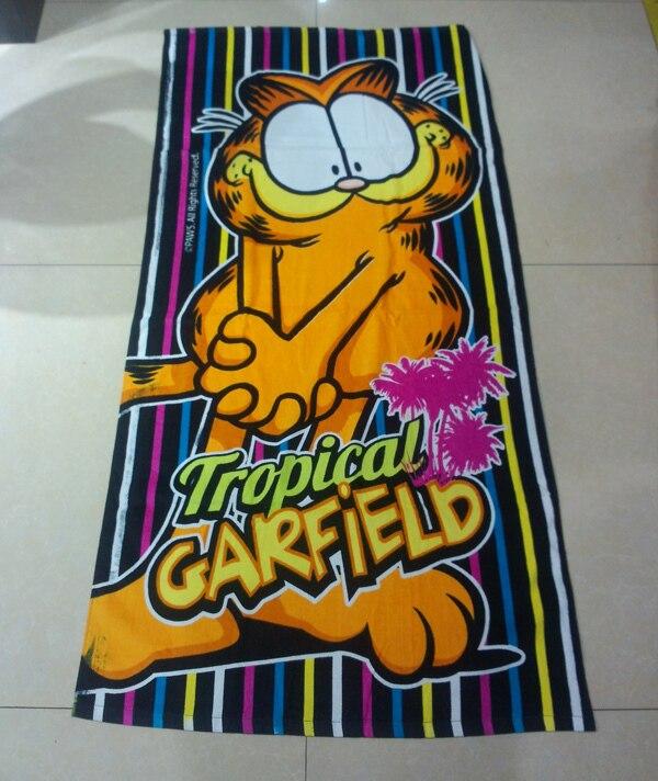 Serviette De Plage Garfield.Nouvelle Arrivee Livraison Gratuite De Detail 100 Coton
