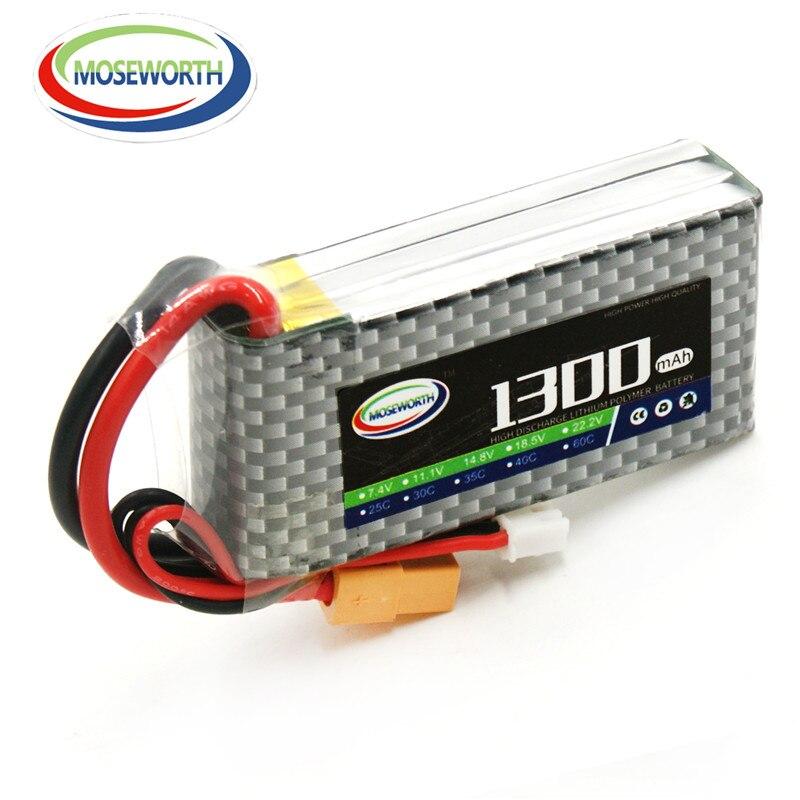 2 piezas unids MOSEWORTH S 3 s RC LiPo batería 1300 V 11,1 mAh 25C para rc airplane car tank li-po battria envío gratis