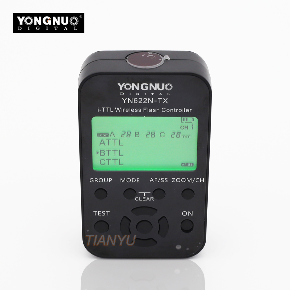 YONGNUO YN-622N-TX YN622N-TX YN 622N TX i-TTL LCD wireless flash controller wireless flash trigger transceiver For Nikon DSLR