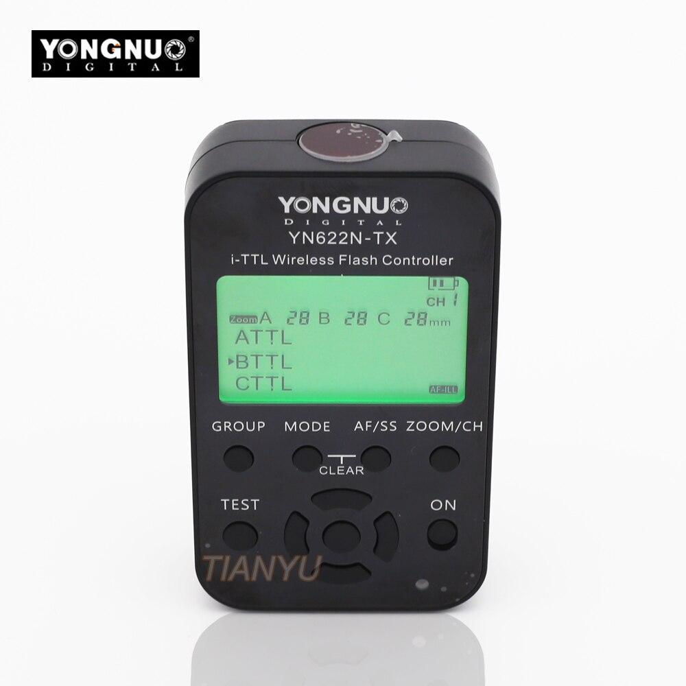YONGNUO YN-622N-TX YN622N-TX YN 622N TX je-TTL LCD sans fil contrôleur de flash sans fil déclencheur flash transceiver Pour Nikon DSLR