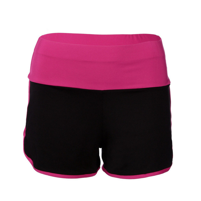 Hot Mid Waist Elastic Patchwork Shorts