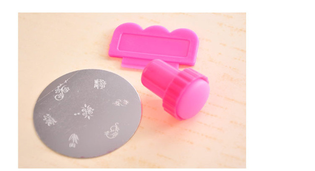 10 Sets Round Stainless Steel Image Plate Nail Art kit Stamping Plate Free Shipping