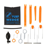Professional 13pcs Super PDR Auto Entry Tools Kit Pump Wedge Car Panel Removal Open Pry Dash