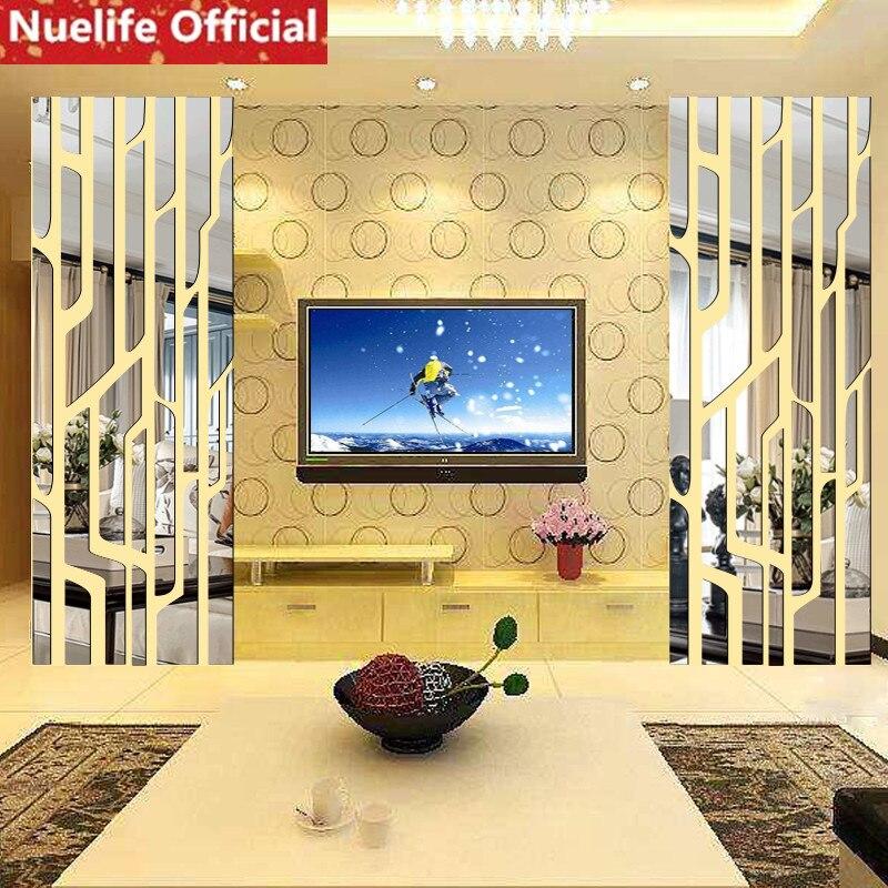 1 pcs Creative branche d'arbre conception acrylique miroir stickers muraux salon chambre TV fond salle à manger stickers muraux