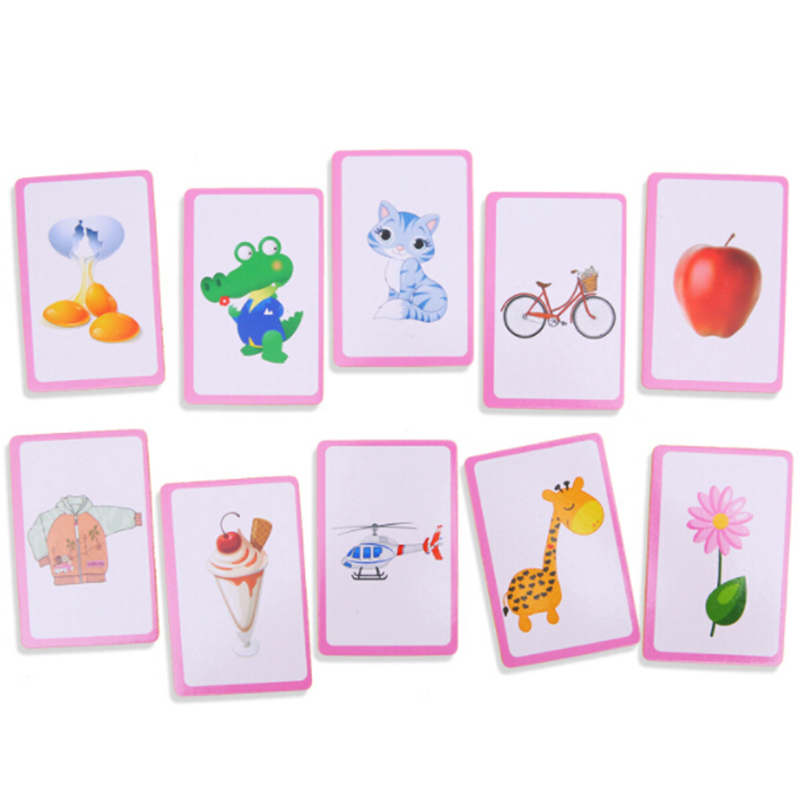36pcs Baby Literacy Game Educational Card Flash Cards Learn English Word Number Baby Literacy Game Educational Cards