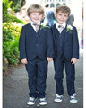 SML элегантный флот страница мальчика костюм мальчик Свадебный костюм Мальчиков Наряд На Заказ костюм смокинг (куртка + брюки + жилет + галстук)