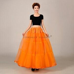 Image 2 - מכירה לוהטת טול חצאית רב צבע תחתונית ארוך לחתונה שמלות תחתוניות 2018 EE6639