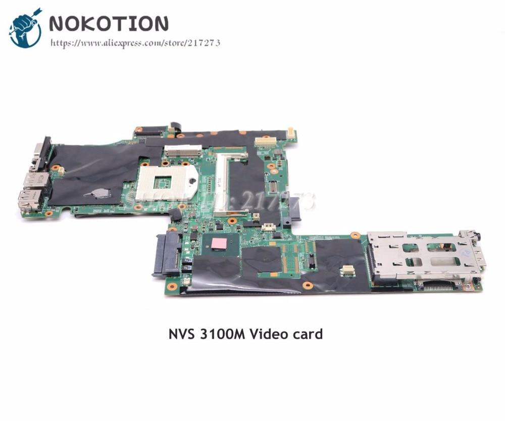 NOKOTION 75Y4068 04W0511 основная плата для lenovo Thinkpad T410 материнская плата для ноутбука QM57 NVS 3100M DDR3 Бесплатный процессор