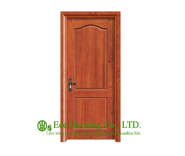 40mm Thickness Timber Veneer Door For Apartment, Swing Type Door, Inward & Outward Opening Entry Door, MDF Timber Door