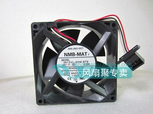 ФОТО Original NMB for FANUC 3612VL-S5W-B79 A90L-0001-0577 24V 0.35A waterproof cooling fan