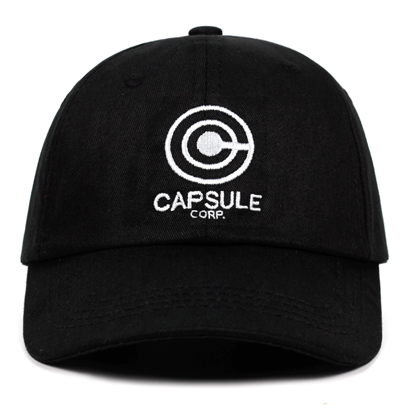 Capsule corp. Dad Hat Dragon Ball Anime song 100% Cotton Embroidery Snapback Hats Unisex   Baseball     Caps   Men Women Holiday Hats