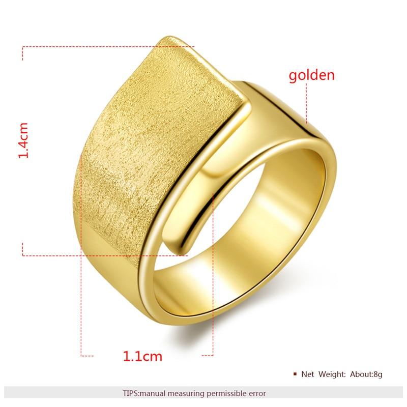 5c1f80dd5a18 BOAKO anillo Vintage ancho cobre grande anillo de dedo de boda acabado mate  Color dorado anillo grande para mujer moda bague Mujer