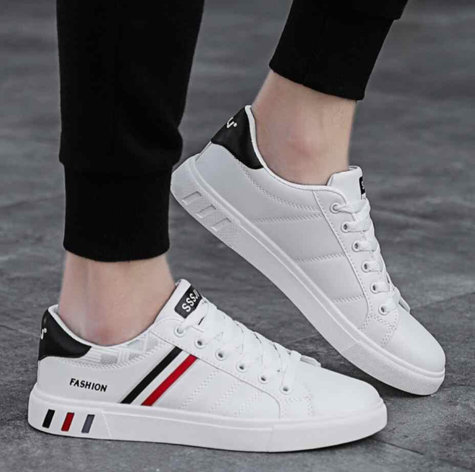 2019 tasarımcı Sneakers vulkanize ayakkabı Basit Yuvarlak Ayak tıknaz Ayakkabı Mens Beyaz Günlük Ayakkabı Erkek Moda Walkerpeak