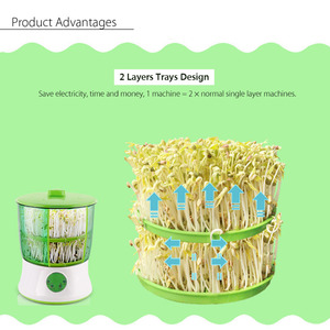 Image 4 - Digital Home DIY Bean Sprouts Maker 2 Layer  Automatic Electric Germinator Seed Vegetable Seedling Growth Bucket Biolomix