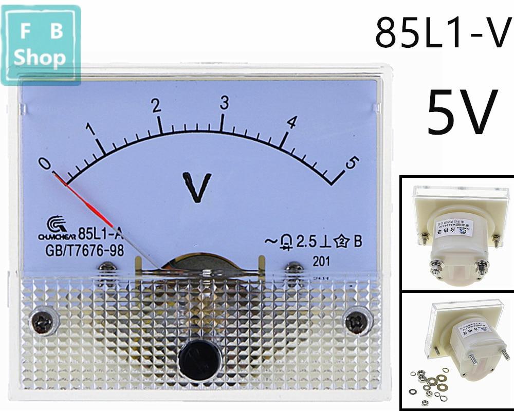 1PCS 85L1-V 1V 2V 3V 5V 10V 15V 20V 25V 30V 50V AC Analog Voltmeter Panel Voltage Meter 64*56mm цена