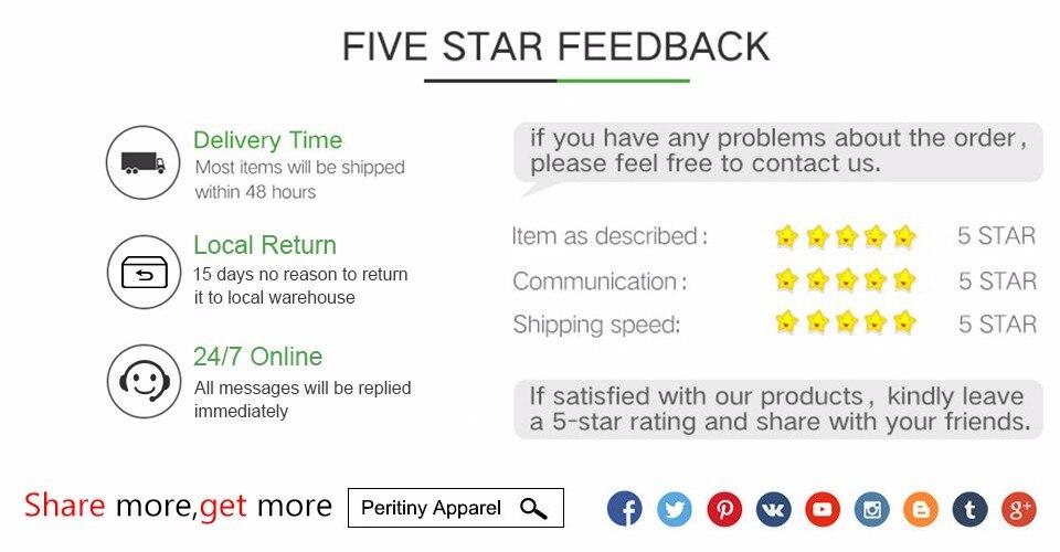 five stars feedback