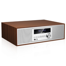Nobsound BL-5 NEW Retro Wooden Wi-fi Moveable Audio house Bluetooth speaker CD radio FM For Alarm clock