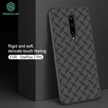 For OnePlus 7 Pro Case NILKIN Synthetic Carbon Fiber Hard PC Phone Back Cover Shell