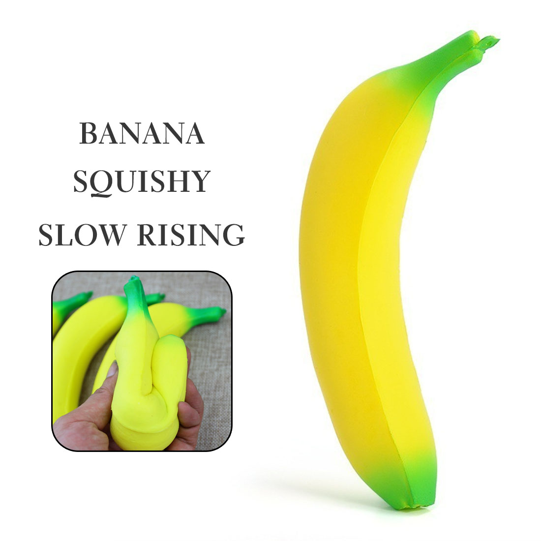 Cute Banana Squishy Super Slow Rising Simulation Fruit Phone Straps Soft Cream Scented Bread Cake Kid Gift Stress Relief Toy